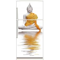 Sticker frigo électroménager déco cuisine Bouddha 70x170cm