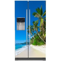 Sticker frigo américain électroménager déco plage
