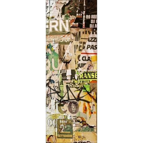 Sticker déco de porte trompe l'oeil papier Tag