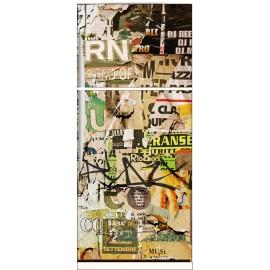 Sticker frigo électroménager déco cuisine Tag Graffiti 70x170cm