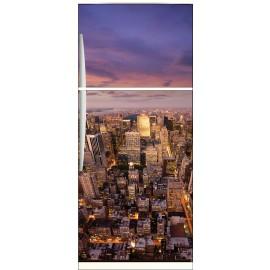 Sticker frigo électroménager déco cuisine New York 70x170cm