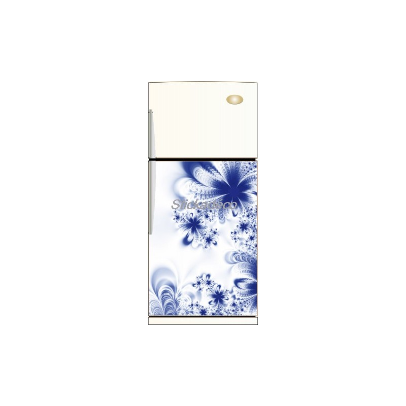 sticker frigidaire fleur bleu art d233co stickers