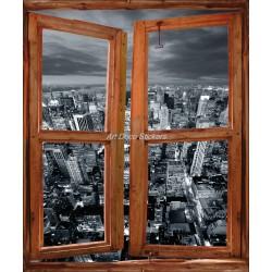 Sticker fenêtre trompe l'oeil New york