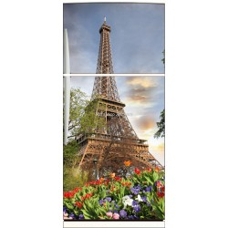Sticker frigo électroménager déco cuisineTour Eiffel 70x170cm