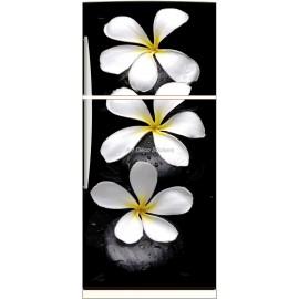 Sticker frigo électroménager déco Fleurs 70x170cm
