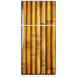 Sticker frigo électroménager déco Bambous 70x170cm