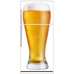 Sticker frigo électroménager déco Bière 70x170cm