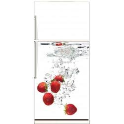 Sticker frigo électroménager déco Fraises - ou Magnet frigo
