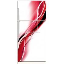 Sticker frigo électroménager déco cuisine Design rouge 70x170cm