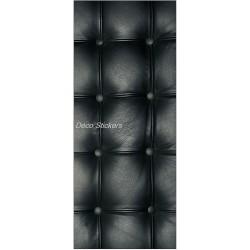 Sticker frigo électroménager déco Capitonné noir 70x170cm