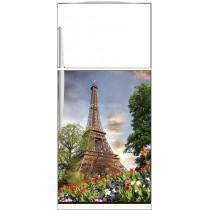 Sticker frigo électroménager déco Tour Eiffel - ou Magnet frigo