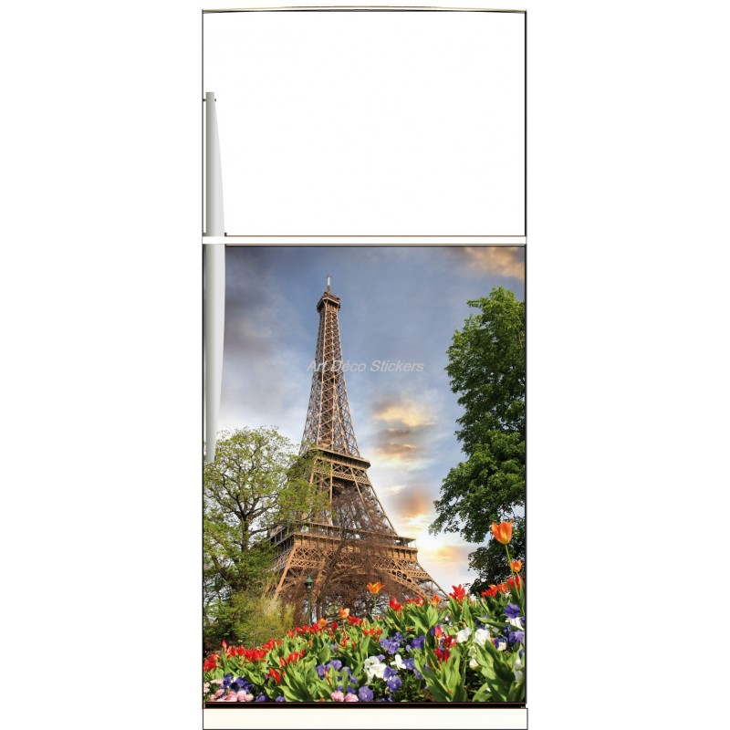 sticker frigo lectrom nager d co tour eiffel ou magnet. Black Bedroom Furniture Sets. Home Design Ideas