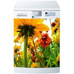 Sticker lave vaisselle ou magnet lave vaisselle Fleurs