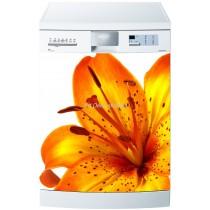 Sticker lave vaisselle ou magnet lave vaisselle Fleur