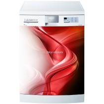Sticker lave vaisselle ou magnet lave vaisselle Design rouge