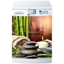Sticker lave vaisselle ou magnet lave vaisselle Bambous galets