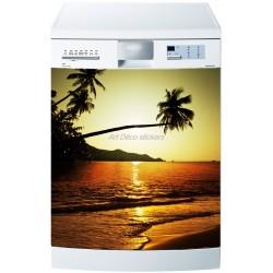 Sticker lave vaisselle ou magnet lave vaisselle Couché de soleil