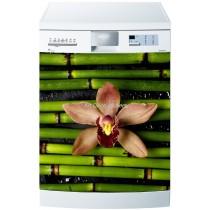Sticker lave vaisselle ou magnet lave vaisselle Bambous fleur