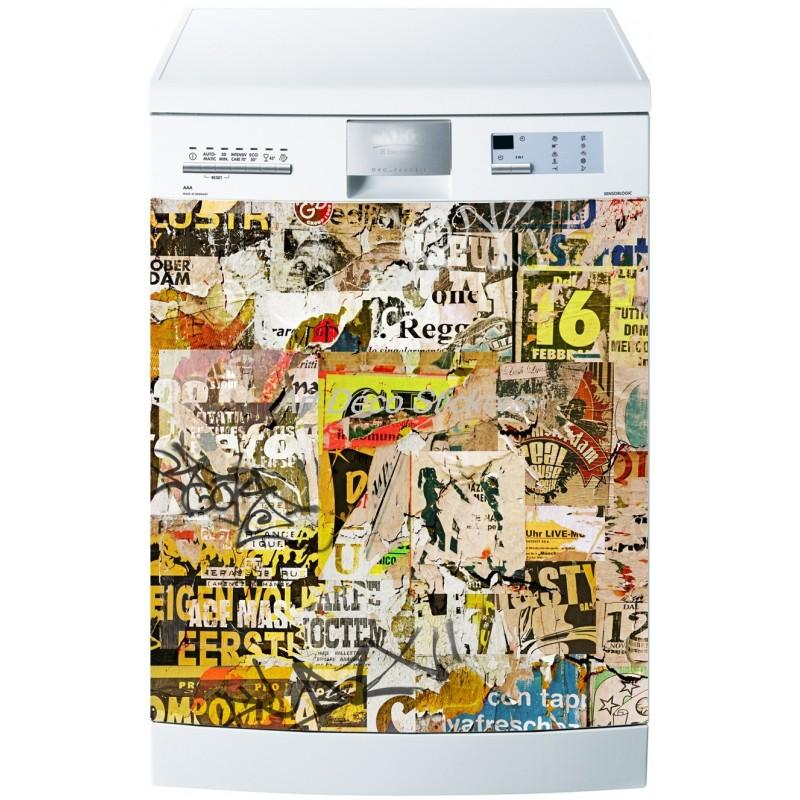 sticker lave vaisselle ou magnet lave vaisselle tag. Black Bedroom Furniture Sets. Home Design Ideas