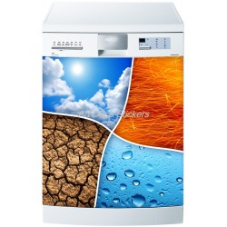 Sticker lave vaisselle ou magnet lave vaisselle