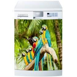 Sticker lave vaisselle ou magnet lave vaisselle Perroquets