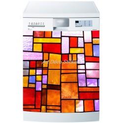 Sticker lave vaisselle ou magnet lave vaisselle Vitraux