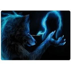 Sticker pc ordinateur portable Loup Garou