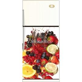 Sticker réfrigirateur Frigidaire Panier de Fruits 60x90cm