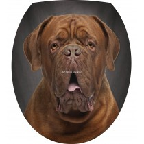 Sticker WC, sticker abattant de WC Chien