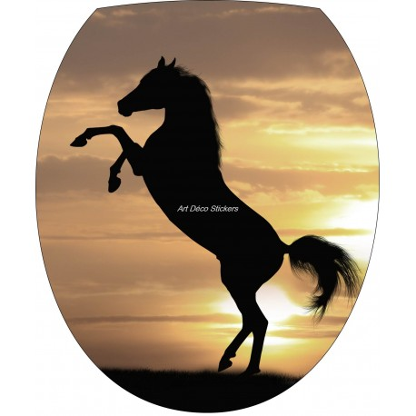 sticker wc sticker pour abattant de wc cheval art d co stickers. Black Bedroom Furniture Sets. Home Design Ideas