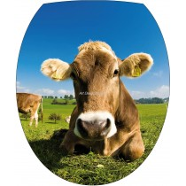 Sticker WC, sticker pour abattant de WC Vache