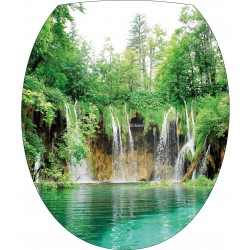 Sticker WC, sticker pour abattant de WC Plitvice