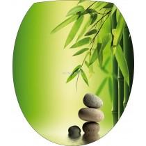 Sticker WC, sticker pour abattant de WC Galets bambous