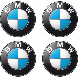 4 stickers autocollants Logos Emblème BMW 4,5cm