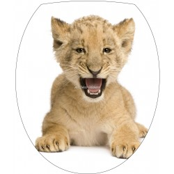 Sticker WC, sticker pour abattant de WC Lionceau