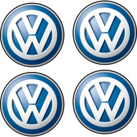 4 stickers autocollants Logos Emblème Volkswagen 5x5cm