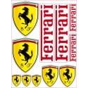 1 Planche de 11 Stickers Autocollants Ferrari