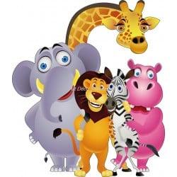 Sticker enfant animaux de la jungle