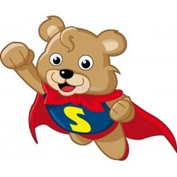 Sticker enfant Super nounours