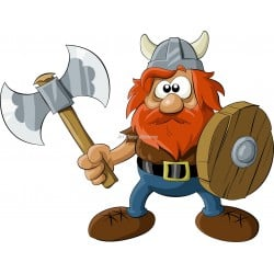 Sticker enfant Viking