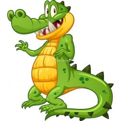 Sticker enfant Crocodile