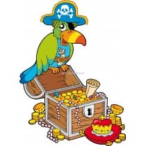 Sticker enfant Perroquet pirate