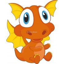 Sticker enfant Bébé dragon