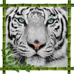 Sticker mural trompe l'oeil déco Tigre 913