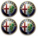 4 stickers autocollants Logos Emblème Alfa Romeo 5x5cm
