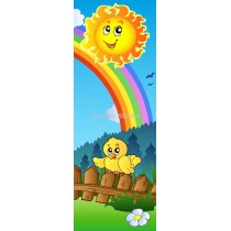 Sticker de porte enfant Soleil