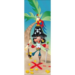 Sticker de porte enfant Pirate