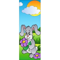 Sticker de porte enfant Lapin