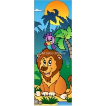Sticker de porte enfant Lion
