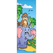 Sticker de porte enfant Eléphant Singe